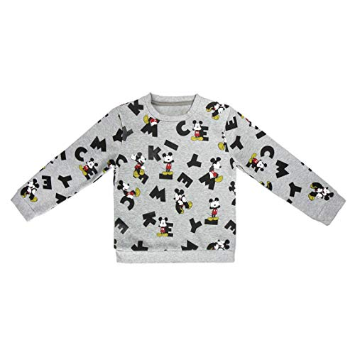 Mickey Mouse S0712673 Sweater, Gris, 5-6 a os (111-116 cm) Unisex-Child
