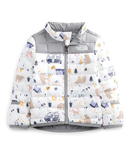 The North Face Infant ThermoBall Eco Jacket, TNF White Camping Friends Print, 6M