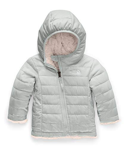 The North Face Kids Baby Girl's Reversible Mossbud Swirl Hoodie (Infant) Meld Grey 0-3 Months