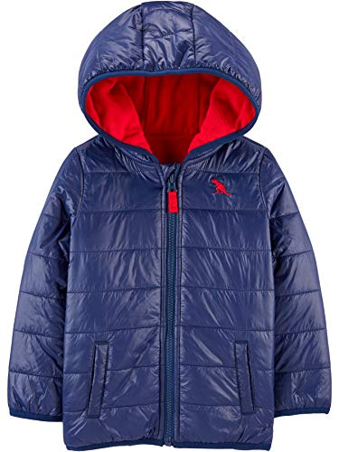 Simple Joys by Carter's Puffer Jacket Infant-and-Toddler-Outerwear, Azul Marino, 18 Meses